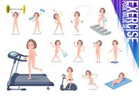 flat type nude women_exercise