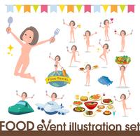 flat type nude women_food festival