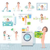 flat type nude women_housekeeping