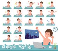 flat type nude men_desk work