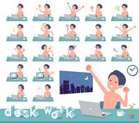 flat type underwear men_desk work