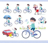 flat type mask blue clothing boy_city cycle