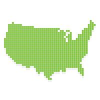 アメリカ 地図 緑 アイコン