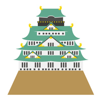 大阪城 建物 大阪 アイコン