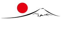 富士山 年賀状 墨 背景