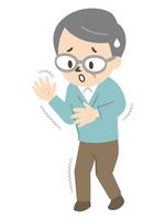 パーキンソン病で手や足にふるえが生じたシニア男性
