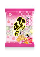 ひなあられの袋のイラスト/日本の砂糖菓子