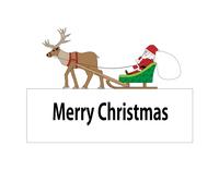 サンタクロースとトナカイのクリスマスカード