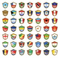 国旗のバッジのイラスト