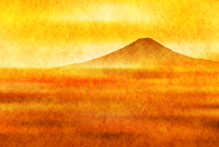 富士山 年賀状 日の出 背景