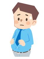 ぽっこりお腹の中年太り男性