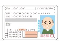 高齢男性の運転免許証