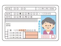 高齢女性の運転免許証