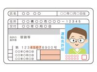 若い男性の運転免許証