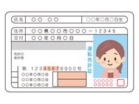 若い女性の運転免許証