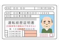 高齢男性の運転経歴証明書