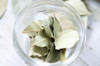 ガラス瓶に入ったドライハーブ ローリエ 月桂樹の葉