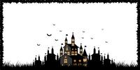 ハロウィン 城 コウモリ 背景