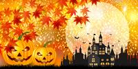 ハロウィン かぼちゃ 城 背景