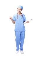 woman nurse smile holding clipboard