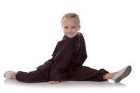 girl - karateka in a black kimono