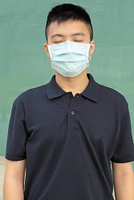 man wear mask outdoor