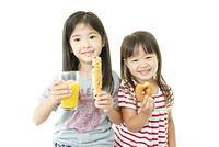 Happy kids eating sweet