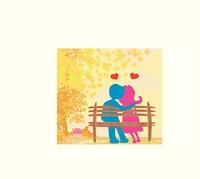 love in the park, autumn landscape