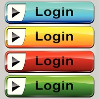 login colorful buttons
