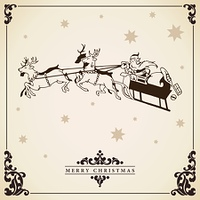 Santa Claus rides in a sleigh vector.