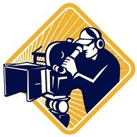 Film Crew Cameraman Shooting Filming Camera Shield