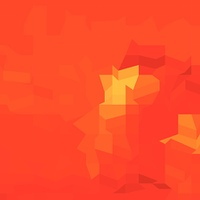 Red Robot Abstract Low Polygon Background