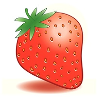Vector ripe strawberries on a white background