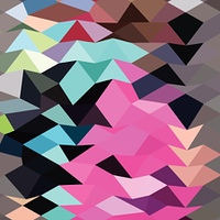Pink Crystals Abstract Low Polygon Background