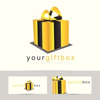 Gift box or present logo vector template