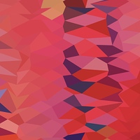 Carmine Pink Abstract Low Polygon Background