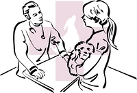 illustration of an veterinarian at work