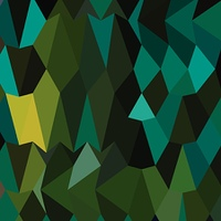 Brunswick Green Abstract Low Polygon Background
