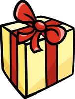 christmas or birthday gift clip art