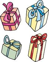 christmas or birthday gift clip art set