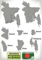 Karte von Bangladesch mit Grenzen in Grau
