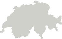 Karte von Schweiz mit Grenzen in Grau