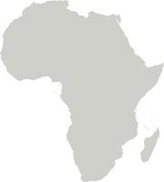 Karte von Afrika mit Grenzen in Grau