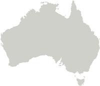 Karte von Australien mit Grenzen in Grau