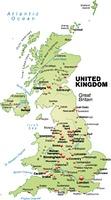 Karte von England als Ubersichtskarte in Pastellgrun
