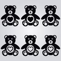 Teddy Bear Vectors Set 1