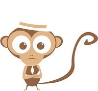Affe mit Hut