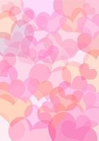 Hintergrund aus pinkfarbenen Herzen - Vektorgrafik