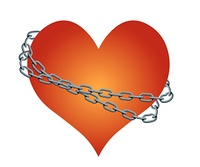 vector chained heart
