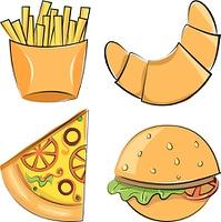 fast food. Vector illustration.